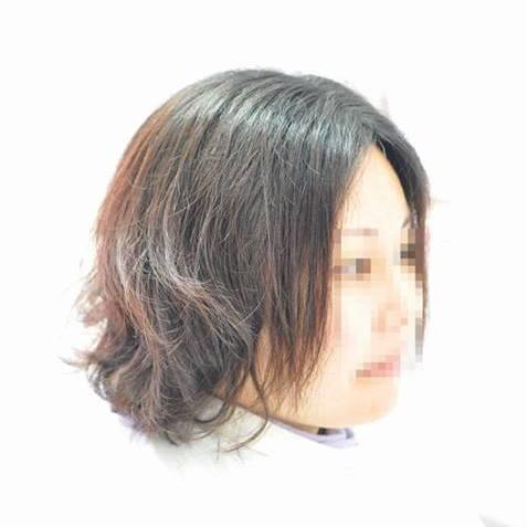 矯正毛へのデジタルパーマ